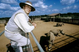 This guy will bid on two rhinos for an european zoo.