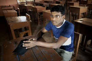 A former Tamil Tiger fighter is happy to attend school now.