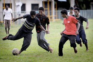 Former fighters are now playing football.