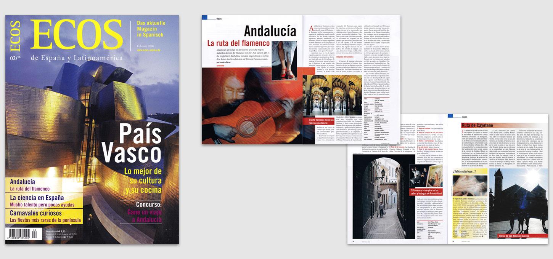 """Magazin """"ECOS"""" / Fotoreportage zum Thema Andalusien & Flamenco"""