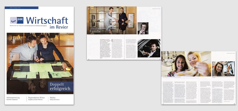 Magazin der IHK-Bochum / Fotos zu einem Unternehmensportrait