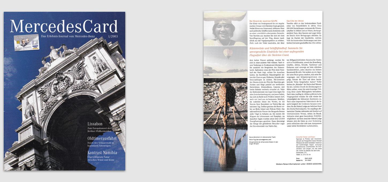 """Magazin """"Mercedes-Card"""" / Fotobeitrag zu einem Beitrag über Namibia"""