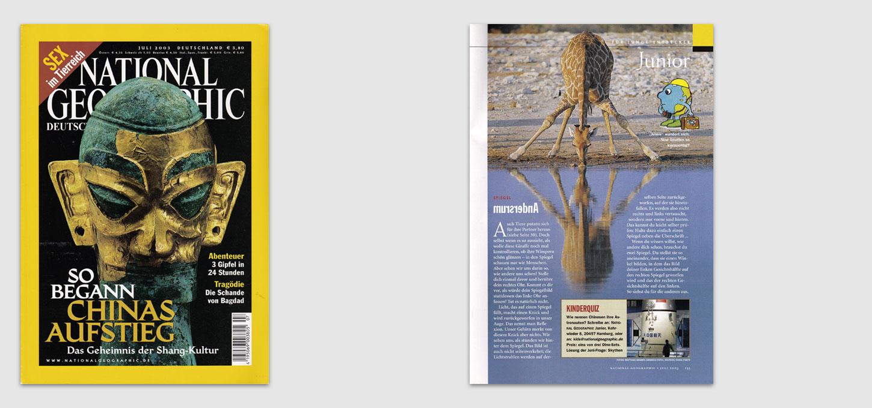 """Magazin National Geographic-Deutschland / Foto zu einem Beitrag auf der """"Junior""""-Seite"""