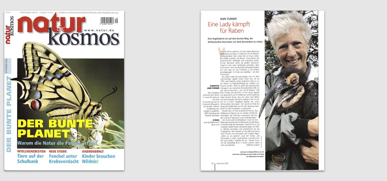 """Magazin """"Natur&Kosmos"""" / Foto- u. Textportrait über Ann Turner (Afrikanische Hornraben)"""