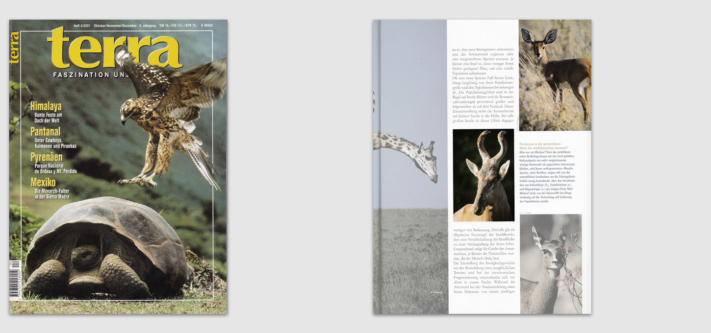 """Magazin """"terra"""" / Fotos zu einem Beitrag über Artenschutz"""